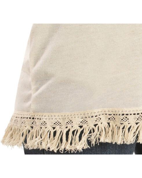 Petrol Women's Crochet & Fringe Kimono, Ivory, hi-res