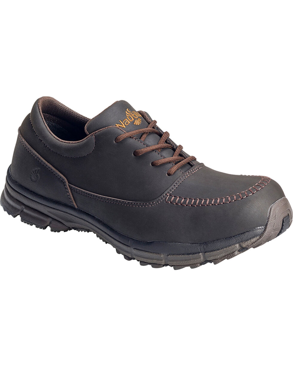 Nautilus Men's Steel Toe ESD Lace Up Casual Shoes, Brown, hi-res