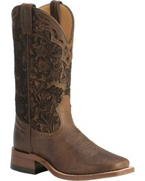 Boulet Hand Tooled Shaft Cowgirl Boots - Square Toe, , hi-res