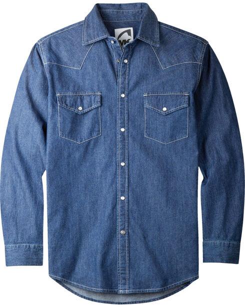 Mountain Khakis Men's Long Sleeve Original Mountain Shirt, Navy, hi-res