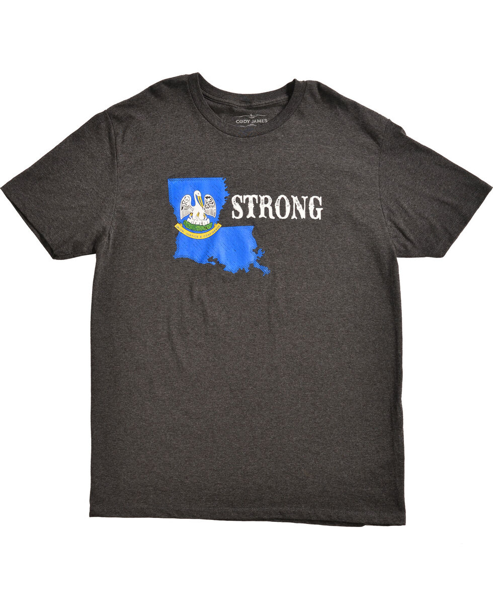 Cody James Men's Louisiana Strong T-Shirt, Black, hi-res