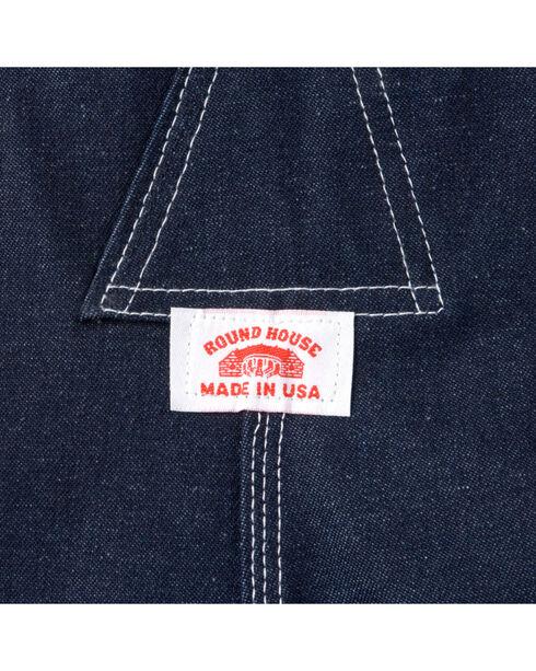Round House Men's Zipper Fly Denim OVeralls, Blue, hi-res