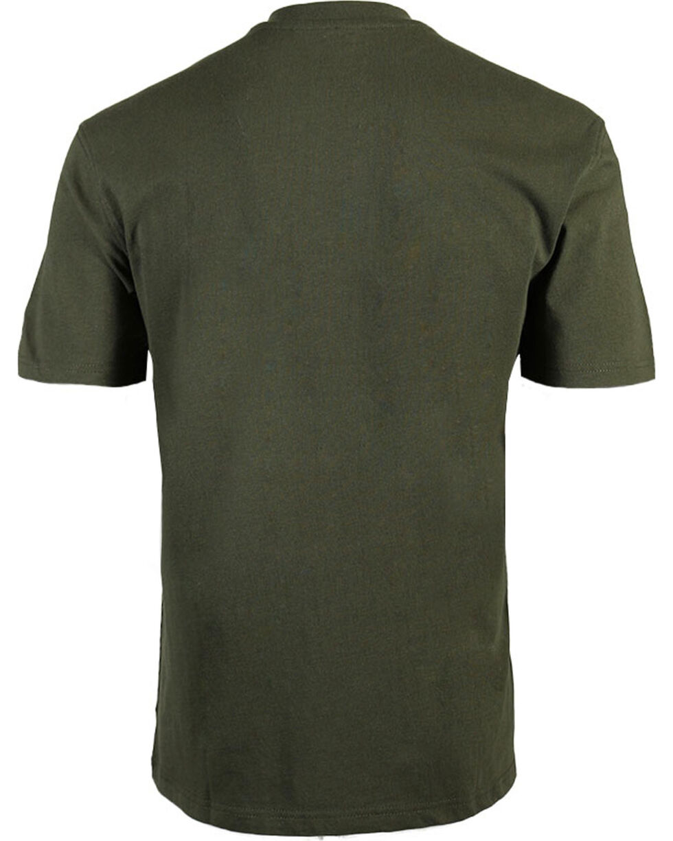 American Worker Men's Solid Short Sleeve Tee, Moss Green, hi-res