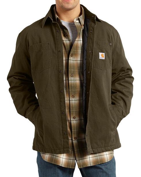 Carhartt Chatfield Ripstop Shirt Jacket, Coffee, hi-res