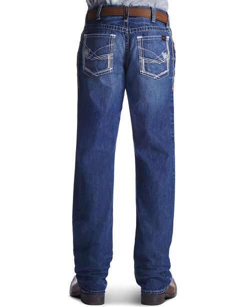 Ariat Men's Fire-Resistant M4 Ridgeline Boot Cut Work Jeans, Denim, hi-res