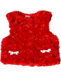 Wrangler Toddler Girls' Red Fur Vest, , hi-res