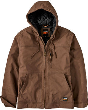 Timberland PRO Men's Baluster Insulated Hooded Canvas Work Jacket , Wheat, hi-res
