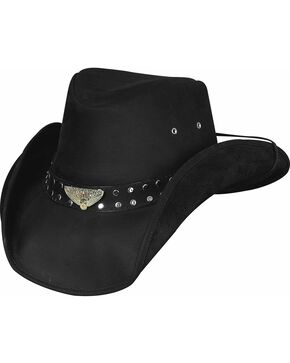 Bullhide Born To Ride Leather Hat, Black, hi-res