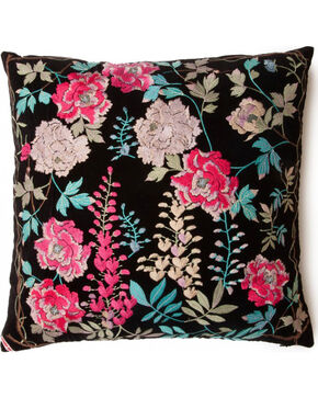 Johnny Was Viney Embroidered Pillow , Black, hi-res