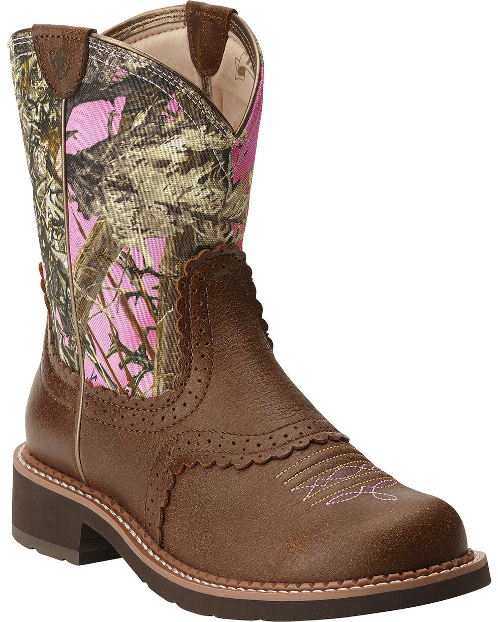 Ariat Women's Fatbaby Heritage Performance Riding Boots, Brn Bomber, hi-res