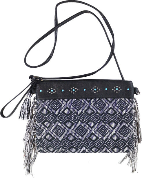 Shyanne® Women's Woven Crossbody Bag, Black, hi-res