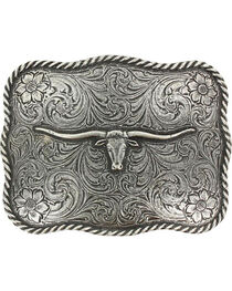 Cody James® Men's Texas Long Horn Belt Buckle, , hi-res
