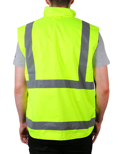 American Worker® Neon Reflective Safety Vest, Yellow, hi-res