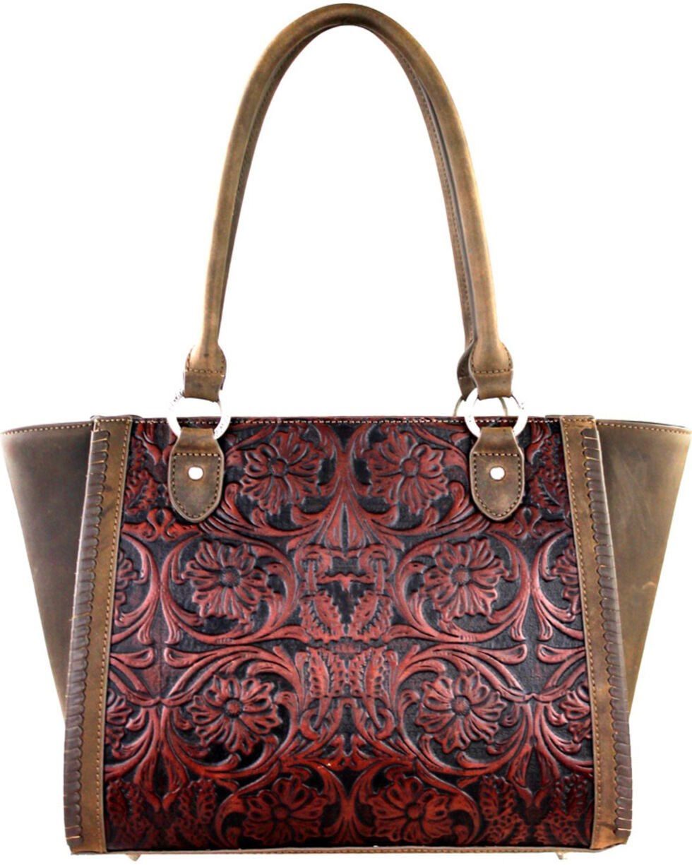 Montana West Coffee Delila 100% Genuine Leather, Brown, hi-res