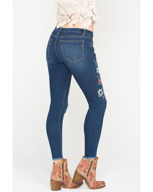 Miss Me Women's Floral Embroidered Skinny Jeans, Indigo, hi-res