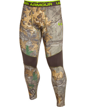 Under Armour Men's ColdGear Infrared Scent Control Camo Leggings, Camouflage, hi-res