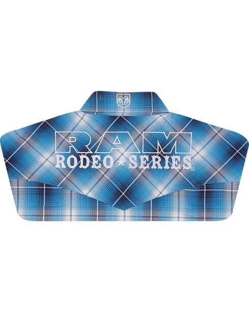 Wrangler Men's RAM® Rodeo Series Long Sleeve Shirt, Blue, hi-res
