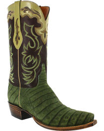 Lucchese Men's Caiman and Suede Western Boots, , hi-res