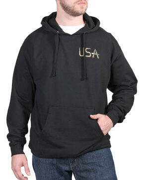 Cody James® Men's USA Bullets Hoodie, Black, hi-res