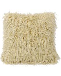 Mongolian Faux Fur Pillow, 18x18 Cream, , hi-res