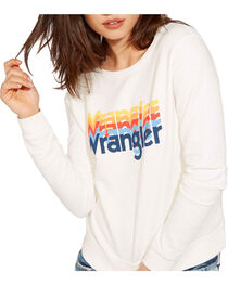 Wrangler Women's 70th Anniversary Screen Print Logo Sweatshirt, , hi-res