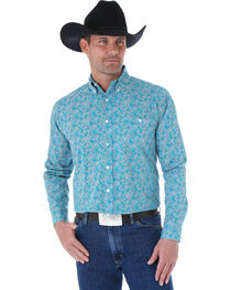 Wrangler George Strait Men's Paisley Long Sleeve Shirt, , hi-res