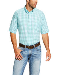 Ariat Men's Aqua Norrington Short Sleeve Shirt - Big and Tall , , hi-res