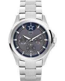 Jack Mason Men's Silver Dallas Multi-Function Watch , , hi-res