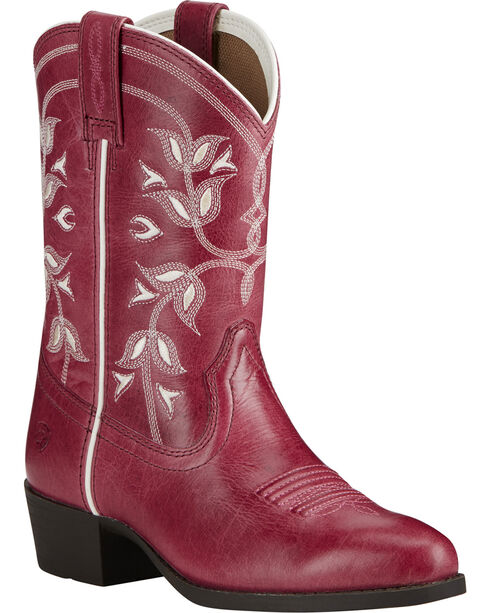 Ariat Girl's Pink Desert Holly Boots - Medium Toe, Pink, hi-res