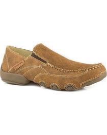 Roper Men's Tan All Over Vintage Driving Moc Shoes , , hi-res