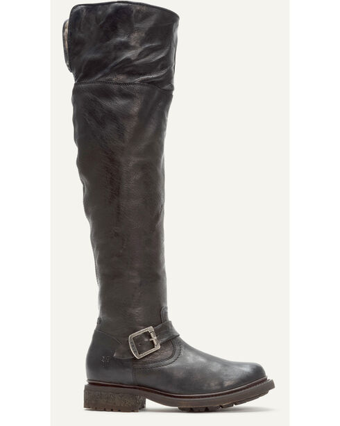 Frye Women's Black Valerie OTK Shearling Tall Boots - Round Toe , Black, hi-res