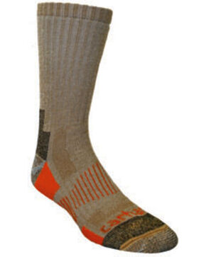 Carhartt Brown All-Terrain Boot Socks - 2 Pack, Brown, hi-res