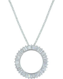 Montana Silversmiths Women's Twilight Halo Circle Necklace , , hi-res