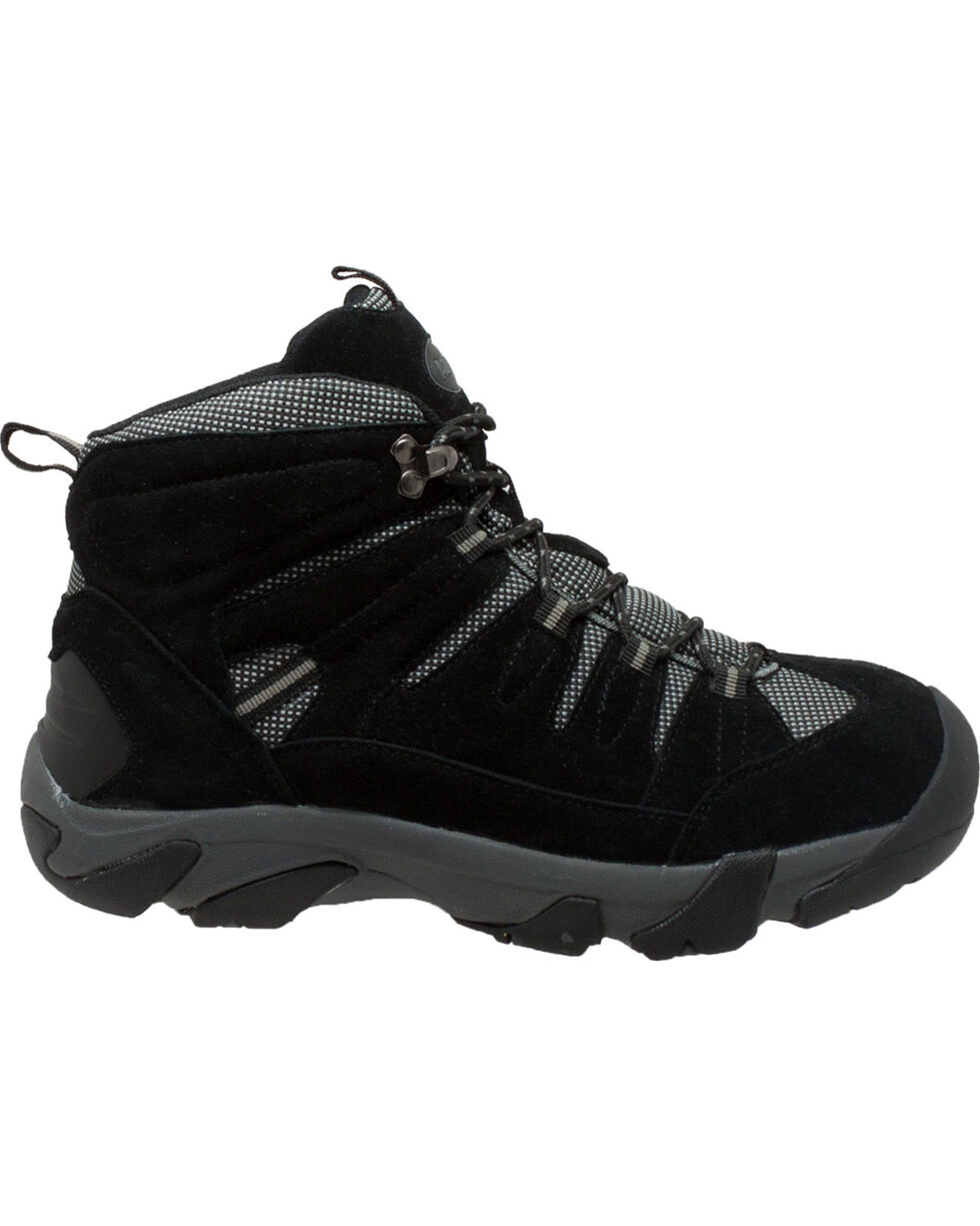 Ad Tec Men's Waterproof Black Suede Work Hiker Boots - Comp Toe, Black, hi-res