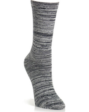 K-Bell Women's Soft & Dreamy Random Feed Crew Socks, Black, hi-res