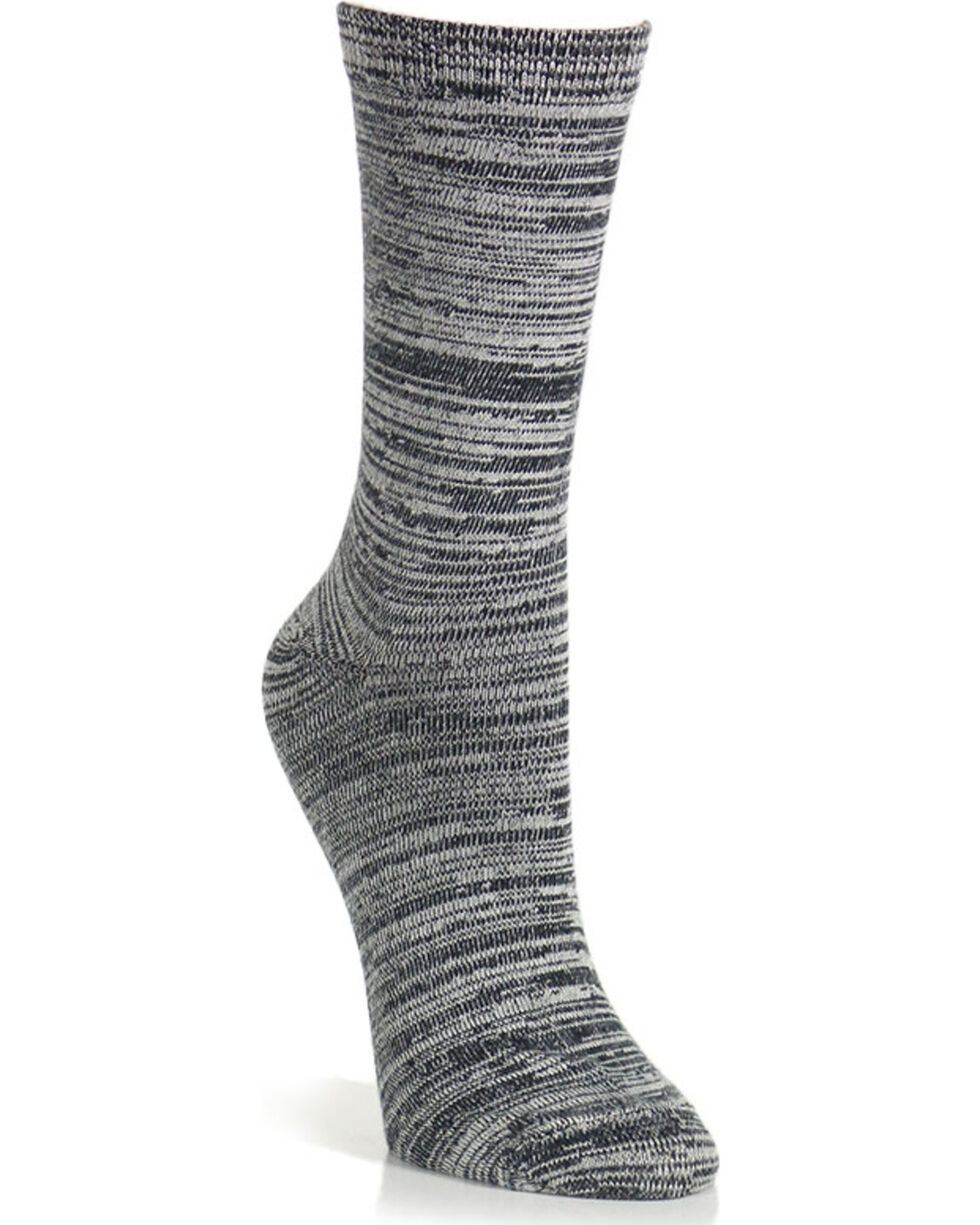 K-Bell Women's Soft & Dreamy Random Feed Crew Socks, Black, hi-res