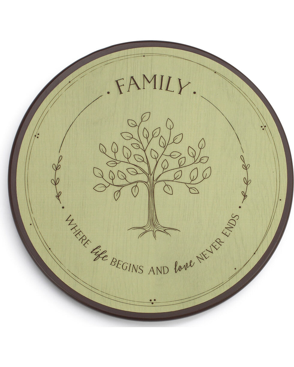 Demdaco Family Tree Lazy Susan , Light Green, hi-res