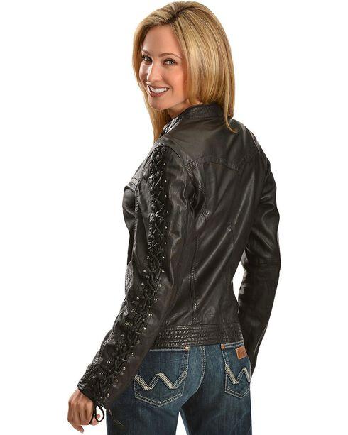 Scully Women's Lamb Skin Jacket, Black, hi-res