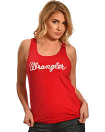 Wrangler Women's Red Logo Tank , , hi-res