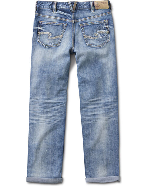 Silver Girls' Cara Medium Wash Boyfriend Jeans - Skinny, Indigo, hi-res
