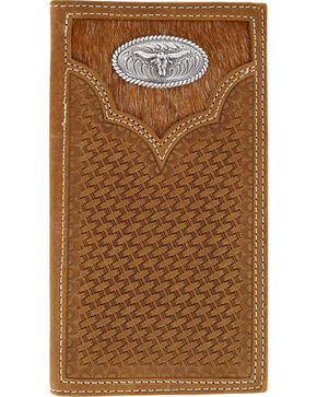 Cody James® Men's Hair-on Longhorn Rodeo Wallet, Brown, hi-res