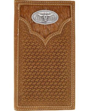 Cody James® Men's Hair-on Longhorn Rodeo Wallet, Brown, hi-res