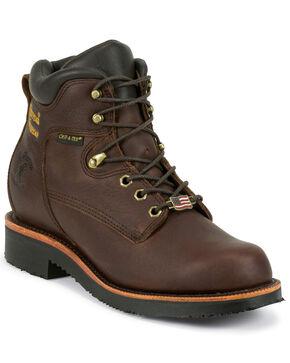 """Chippewa Men's 6"""" Lace Up Boots, Walnut, hi-res"""