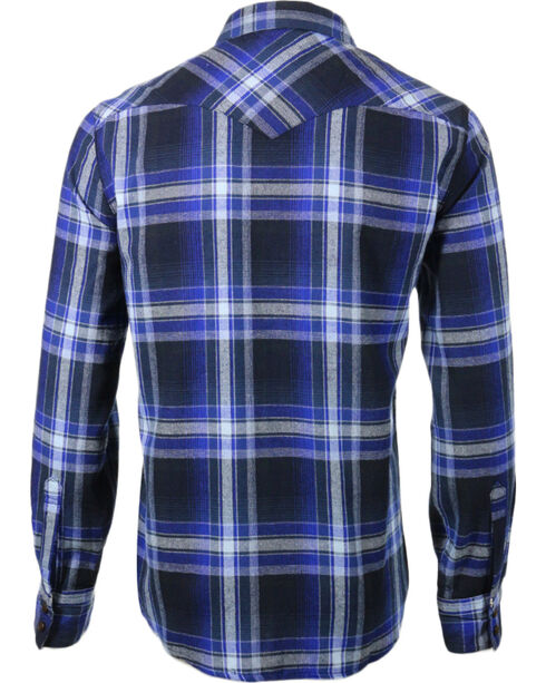 Levi's Men's Long Sleeve Flannel Plaid Shirt, Blue, hi-res