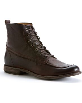 Frye Men's Phillip Work Boots - Round Toe, Dark Brown, hi-res