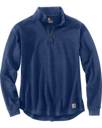 Carhartt Men's Tilden Long Sleeve Mock Neck Quarter Zip Sweatshirt - Big & Tall, , hi-res