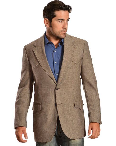 Circle S Men's Lambswool Plano Sport Coat, Brown, hi-res