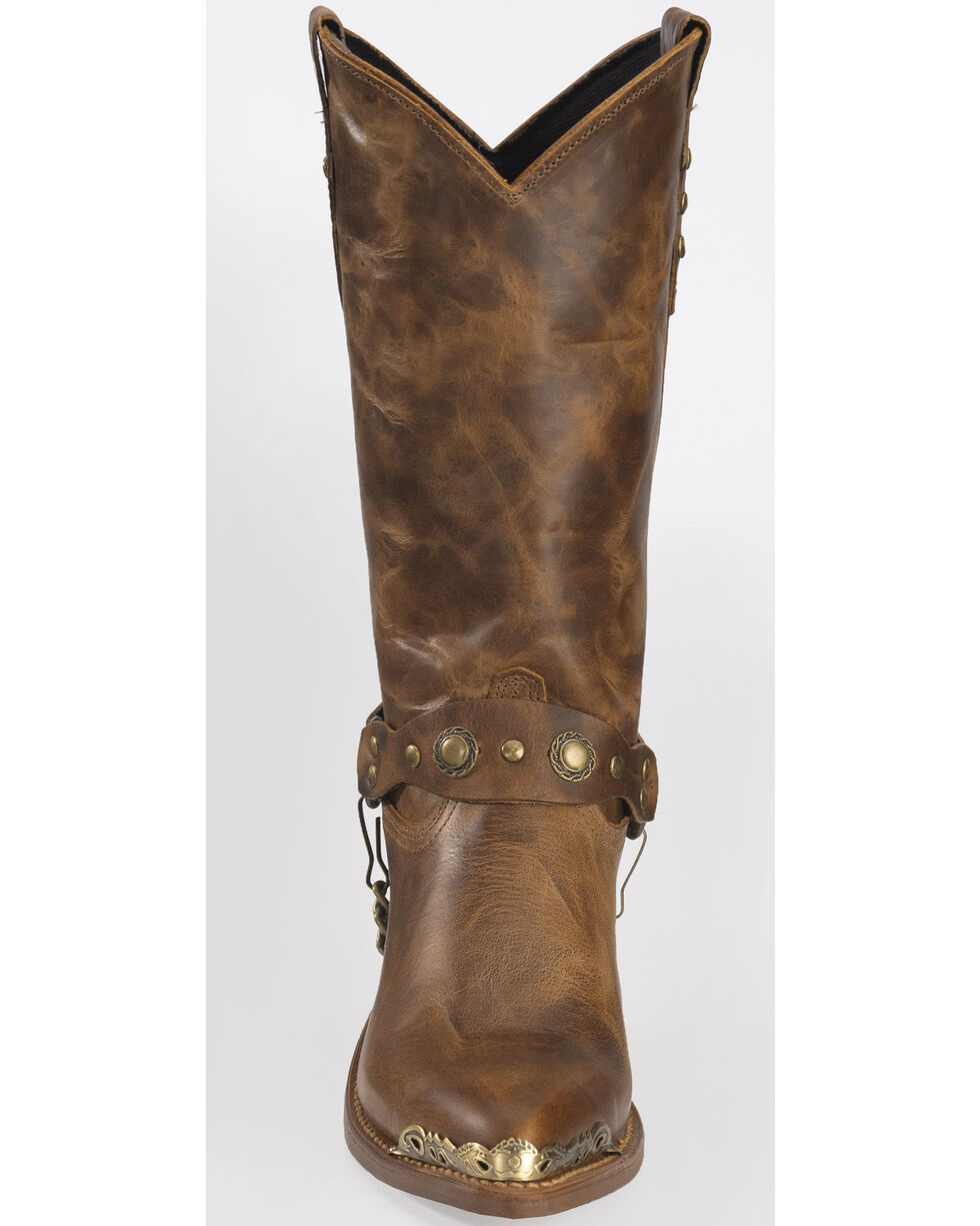 "Sage Boots by Abilene Women's 11"" Concho Western Boots, Tan, hi-res"