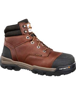 "Carhartt Men's 6"" Ground Force Waterproof Work Boots - Round Toe, Tan, hi-res"