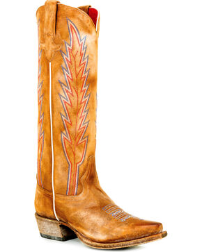 Macie Bean Women's Cognac Annie Get Your Fun Tall Boots - Snip Toe , Cognac, hi-res